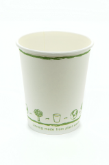 12oz PLA Single Walled Hot Cups 100% Compostable and Biodegradable 1000 Pack