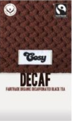 Cosy Decaf Breakfast Organic Fairtrade Tea 20 Bags