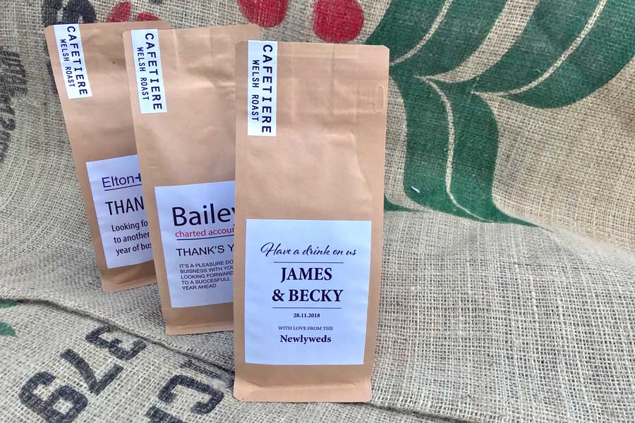 Customised Coffee Bags For Wedding Favours Business Gifts